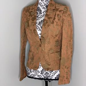 Vertigo Paris Copper/Brown Floral Blazer Size S